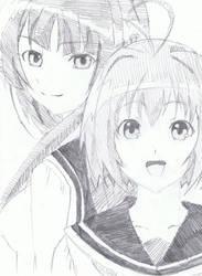 Mikoto Kondo and Shizuku Sango