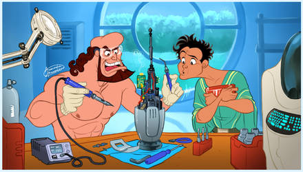 Disney Hercules_ We are inventing! by ariel025