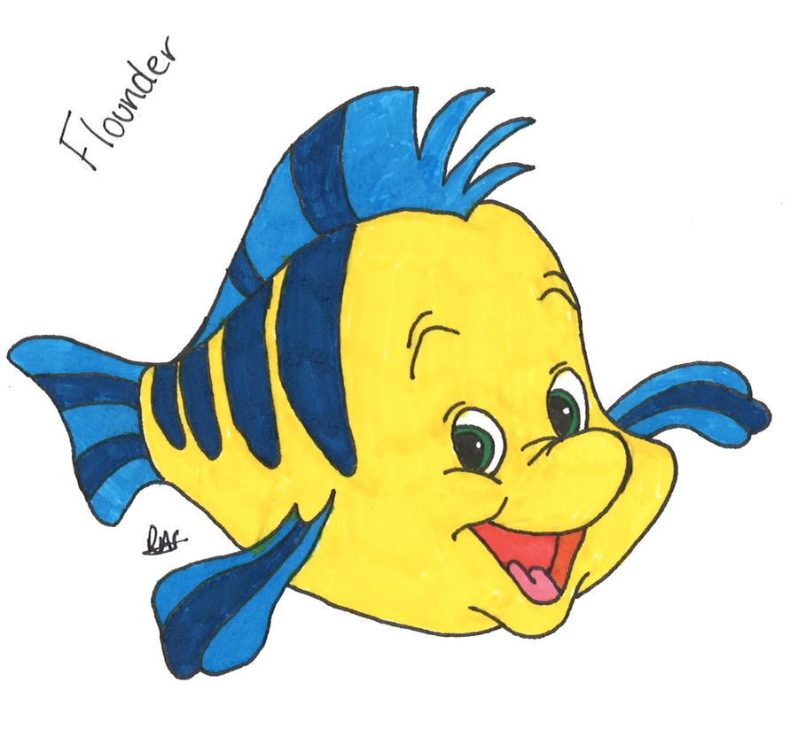 Flounder - The Little Mermaid by Rhiannabear on deviantART