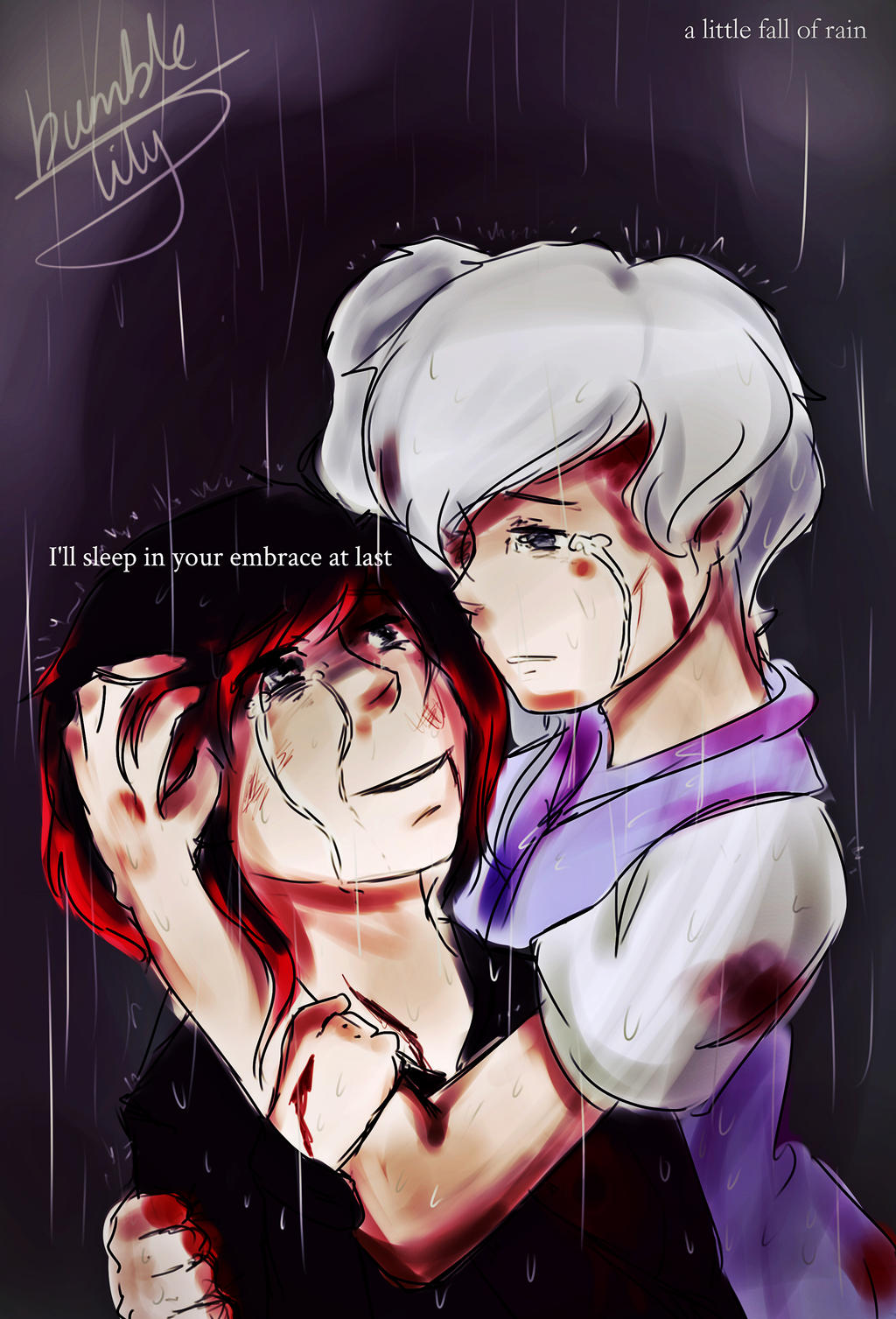 ... ::RWBY:: A Little Fall Of Rain by bumble-lily