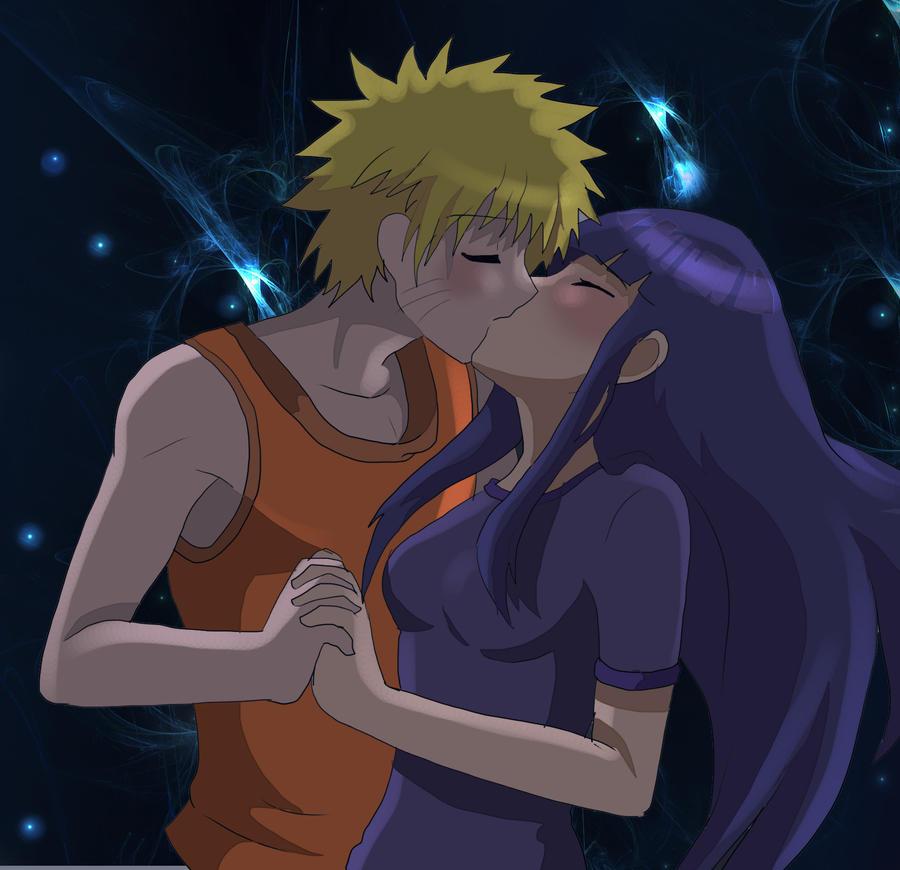 Naruto And Hinata Kiss By AngelofHapiness On DeviantArt