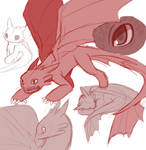 Toothless doodles