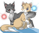 Link and dark Link as cat