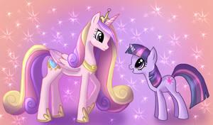 Twilight Sparkle and Cadance