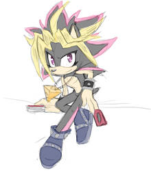 Yugi as a hedgehog