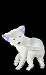 stuffed possessed Cat White