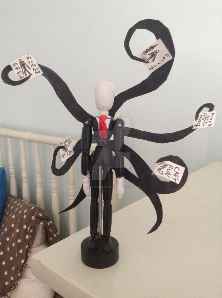 Mini slenderman figure by gothicbrony on deviantart