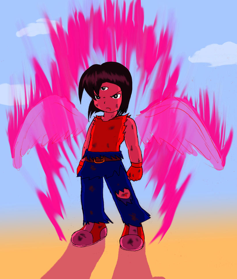 Sam Angelica 9th Anniversary art- Red Rage Mode by ACH-theNUTS