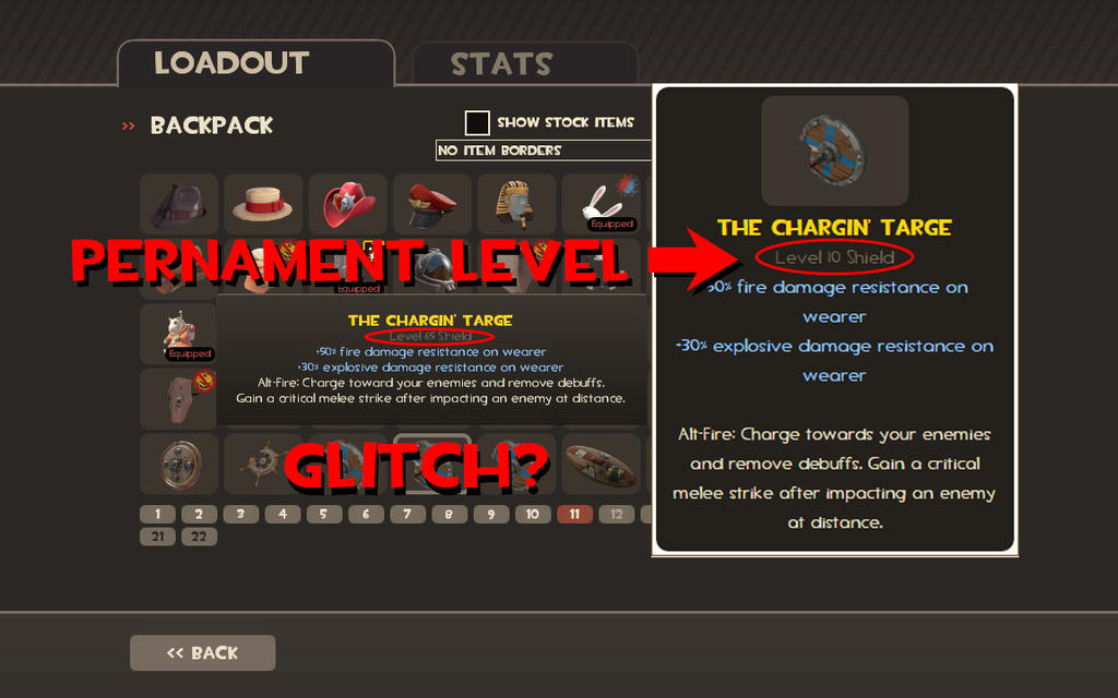 Glitched Level of Chargin' Targe? by ACH-theNUTS