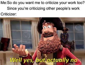 Criticizer's argument by achthenuts