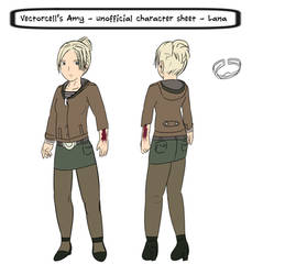 [UNOFFICIAL] Lana's character sheet from AMY by achthenuts