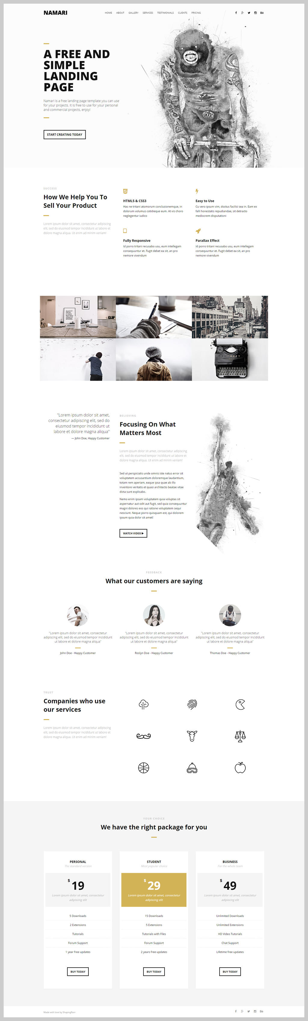 Free Landing Page Template by NilsHuber
