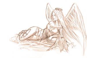 nEWaNGEL - pencilwork by kawaiibaby37