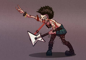 Punk Rocker - Character Design Challenge by Chirko