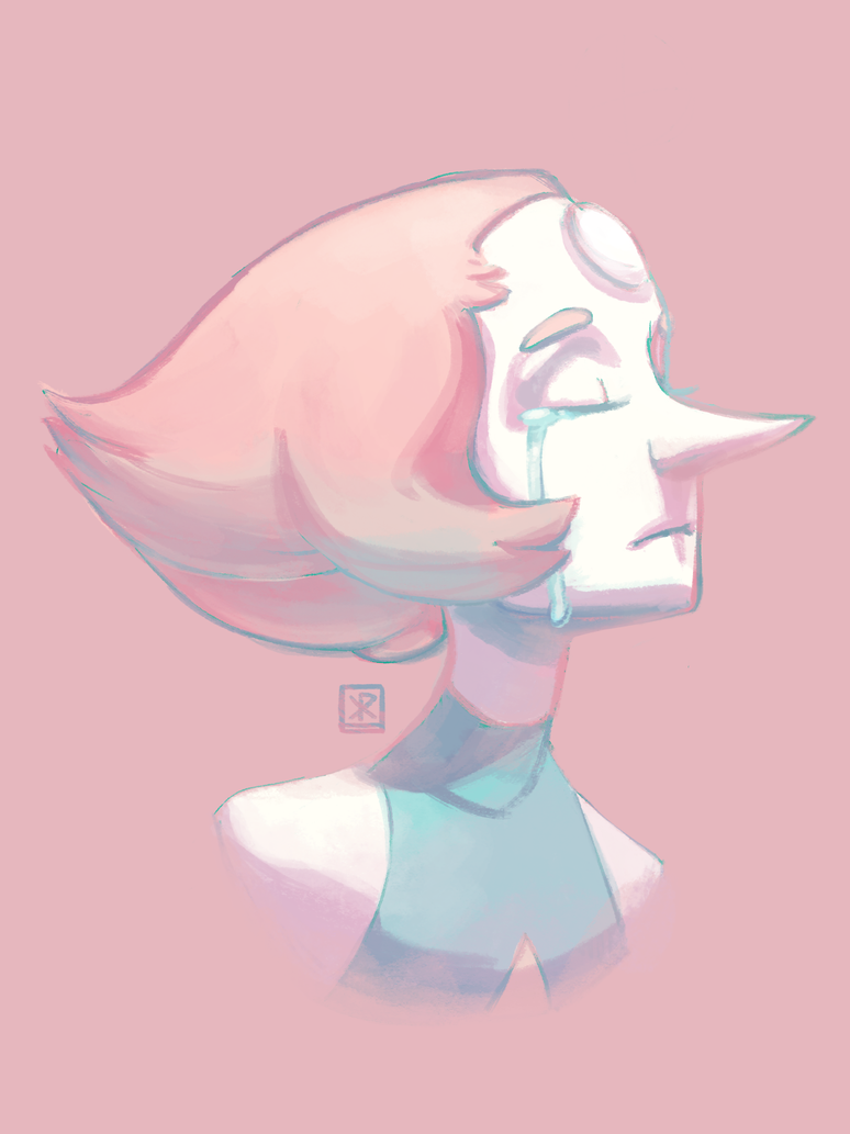 A warm up that went too far and became a redraw of my first Pearl piece.