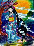 Lady Ghost in Kimono