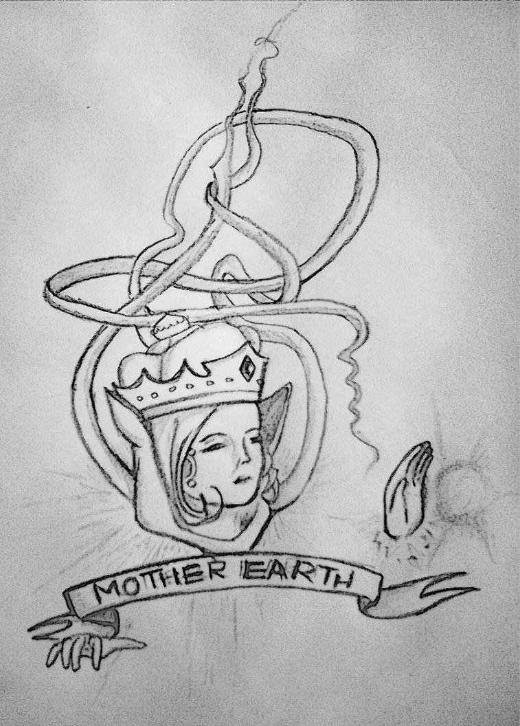 Mother Nature Symbol Tattoo