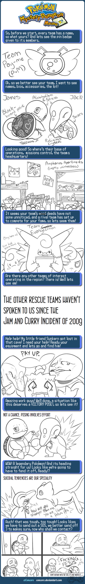 Mystery Dungeon Meme by GrimmArtworks
