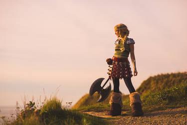 Astrid ready for battle