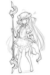 [warframefanart] space magical girl 01 by UDPR