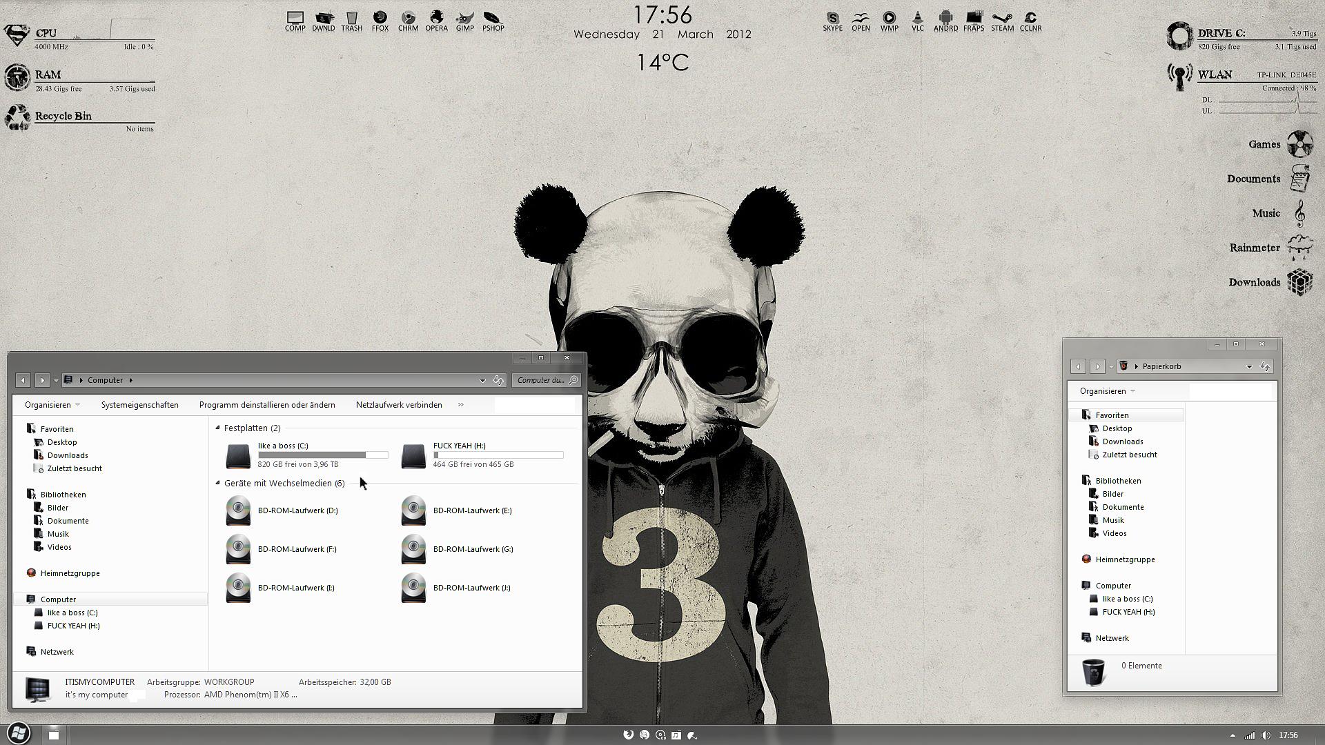 PPD | Panda Power Desktop by fuckyeahlucas