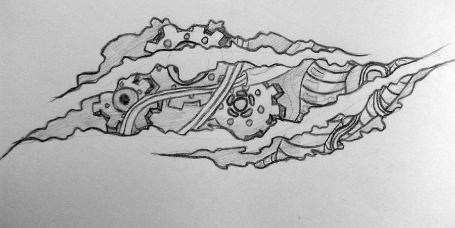 Biomechanical Tattoo Line Drawing : Design biomechanical by seduloussara on deviantart
