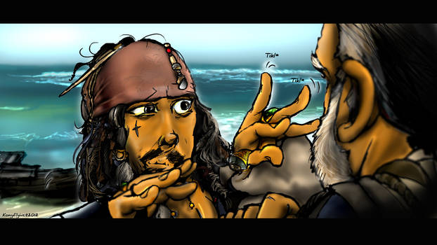 Jack Sparrow magic fingerwiggle