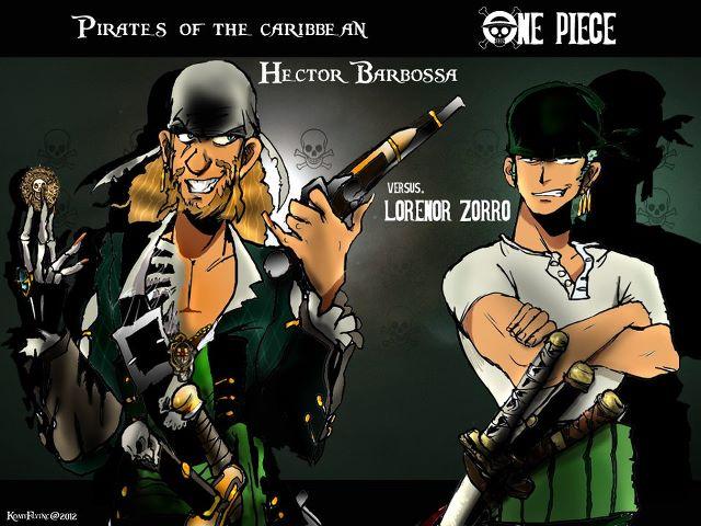 Hector Barbossa Versus Lorenor Zorro By KomyFly