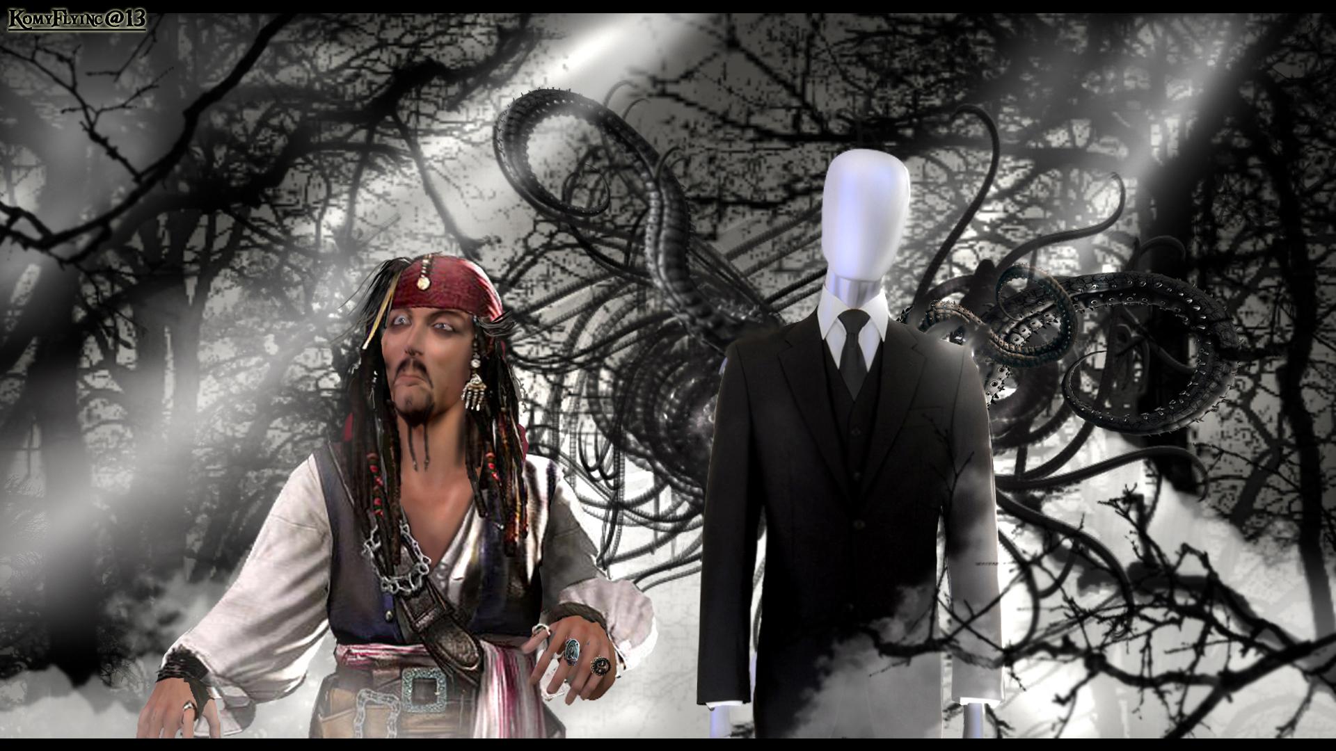 Jack Sparrow Meet The Slender Man By Komyfly On Deviantart