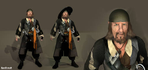 Hector Barbossa 3d with new textures an ambient by KomyFly