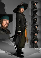 Photoshooting with Hector Barbossa by KomyFly