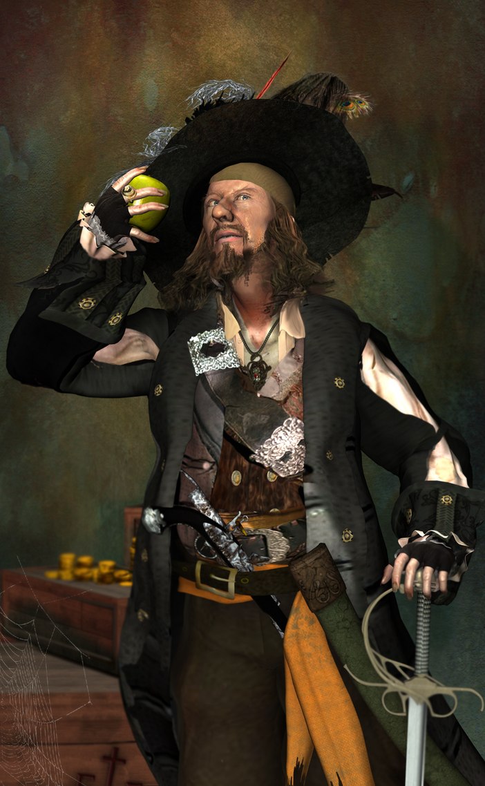 0a6cd041d Captain Hector Barbossa with Apple by KomyFlyinc@ by KomyFly on ...
