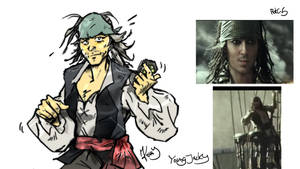 Young Jack Sparrow    first scetch