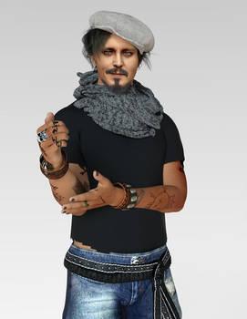 Johnny Depp   Daz3D  G8 Version
