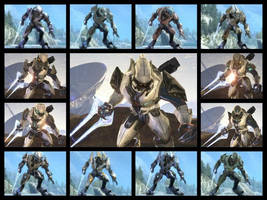 Halo 3 and Reach Elite Armor by videogameexpert117