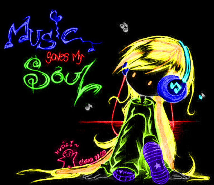 music saves my soul by redcherryanime on deviantart