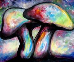 Psychedelic Mushrooms by LumiKarhu