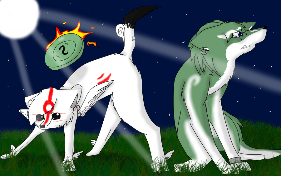 Okami and Wolf Link by Darkstar-9-25Wolf Link And Okami