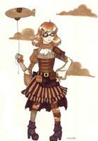 Steampunk Rachel by Spork-Bunny