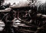 Sub Zero Vs Scorpion by fromthedead
