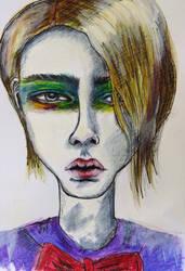 Boy drawing by JesseAlveo