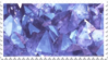 blue purple aesthetic crystal stamp by GlacierVapour