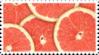 grapefruit citrus stamp