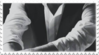 black and white formalwear aesthetic stamp 3 by GlacierVapour