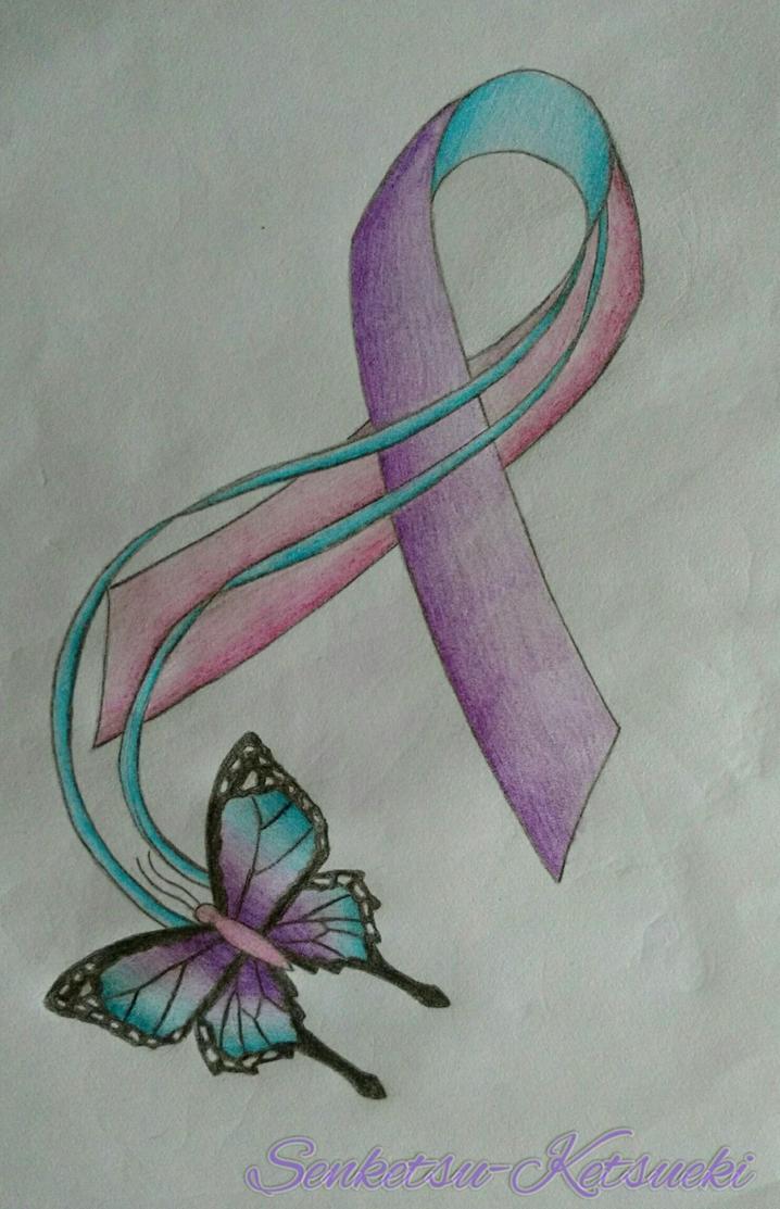 Thyroid Cancer Awareness Ribbon By Senketsu Ketsueki On Deviantart
