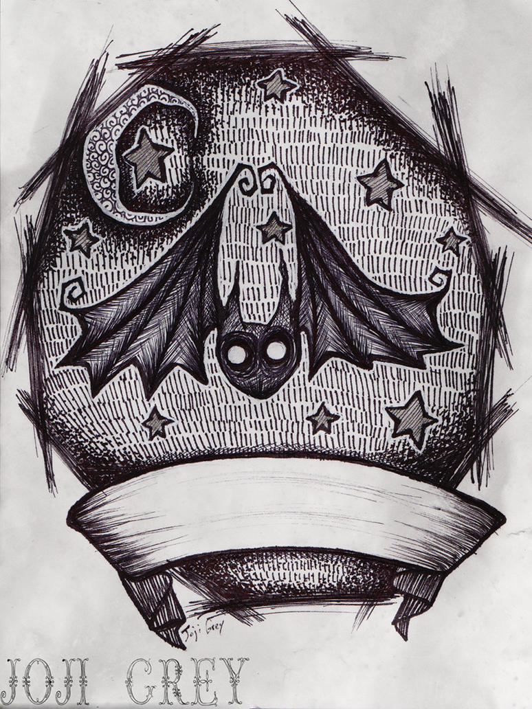 bat tattoo design by thekingofmoths on deviantart. Black Bedroom Furniture Sets. Home Design Ideas