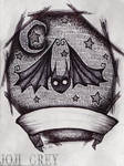 Bat Tattoo Design by TheKingOfMoths