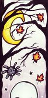 Halloween Ghost Bookmark by TheKingOfMoths