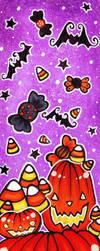 Halloween Pumpkin Bookmark by TheKingOfMoths