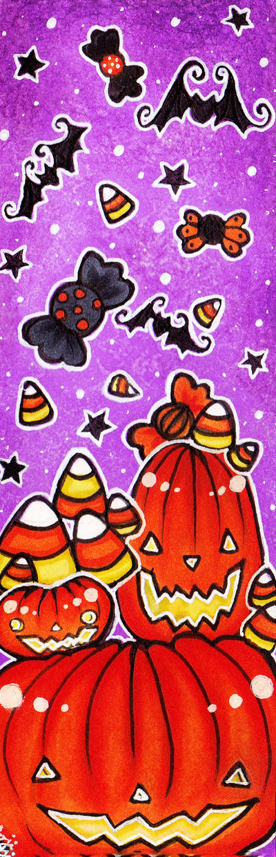 Halloween Pumpkin Bookmark by TheKingOfMoths